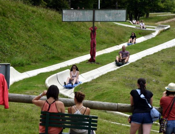 LUGE D'ETE: A La Schucht, on glisse aussi en été ! Le Chalet Milien.