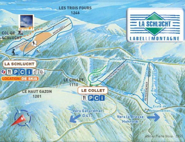 Station de ski, la Schlucht, Chalet Milien