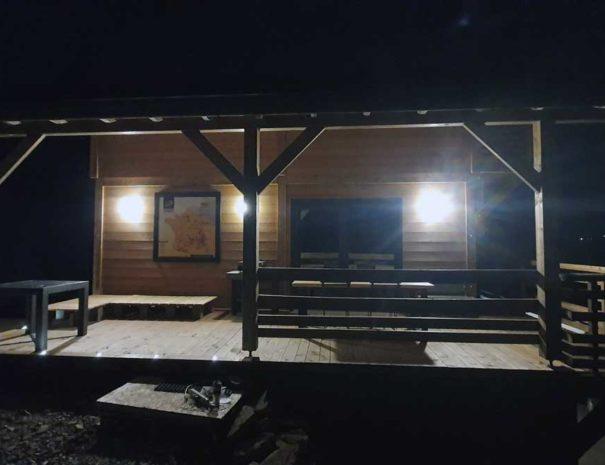 Terrasse la nuit, Chalet Milien, La Bresse Vosges