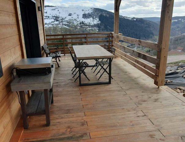 Terrasse, Chalet Milien, La Bresse Vosges